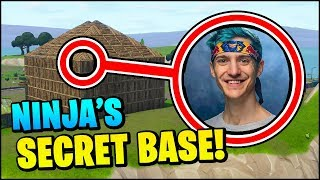Fortnite: Ninja's SECRET SPAWN ISLAND BASE
