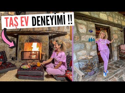 İzmir Köyünde Otantik TAŞ EV Turu ! Köy Evinde 24 Saat Geçirmek