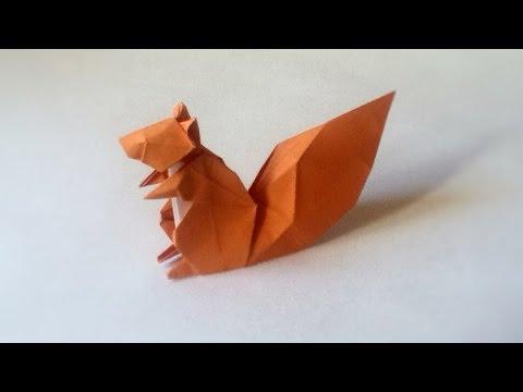 tuto origami ecureuil