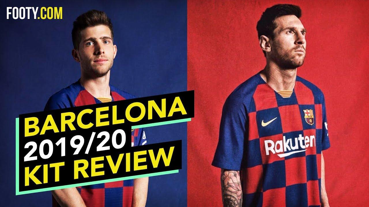 Barcelona 2019 20 Nike Home Shirt Kit Review Youtube