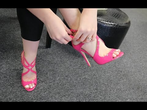 review-try-on-pleaser-amuse-15-pink-5-inch-high-heel-shoes