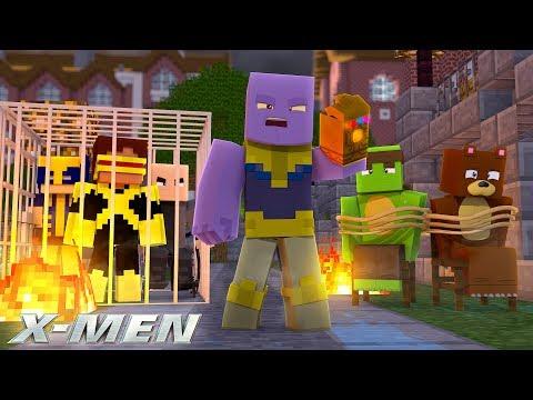 THANOS ATTACKS THE SCHOOL!!! - Minecraft X-Men