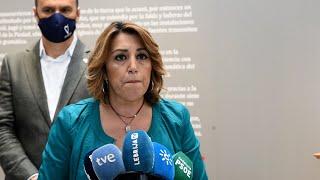 """Susana Díaz critica que Moreno """"abra discotecas y no centros de salud"""" tras la alarma"""