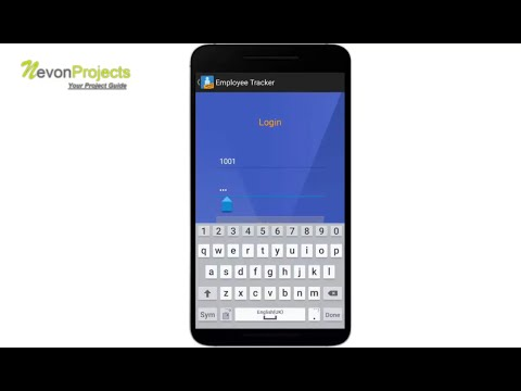 Android Employee Tracker - YouTube