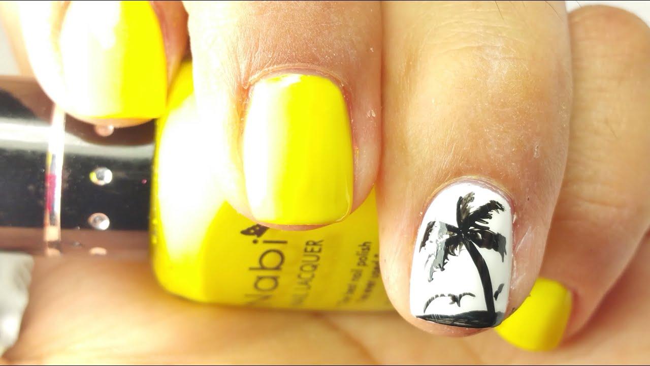 Uñas De Palma Palm Tree Nails Fácilesasy