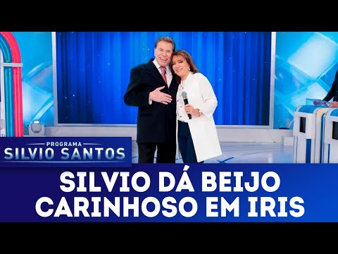 Silvio dá beijo carinhoso em Iris | Programa Silvio Santos (13/05/18)