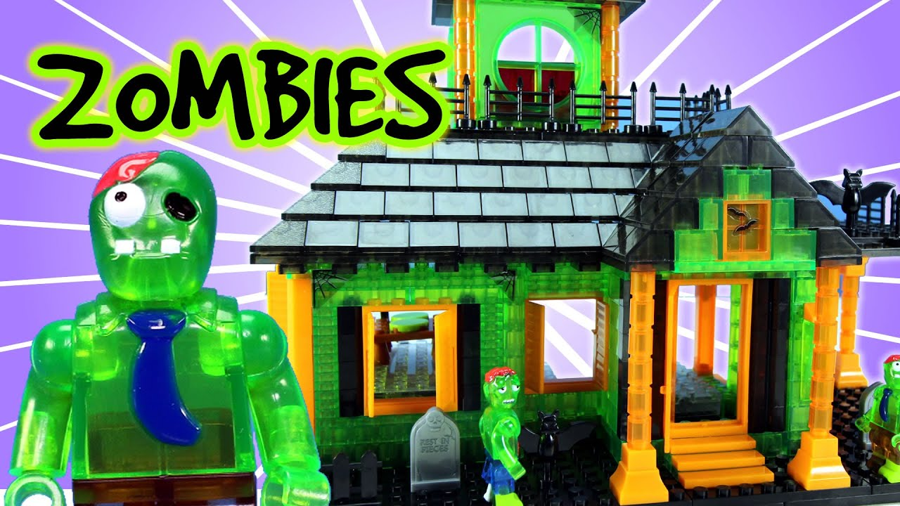 Zombie house with lights building set stopmotion build and for Zombie build