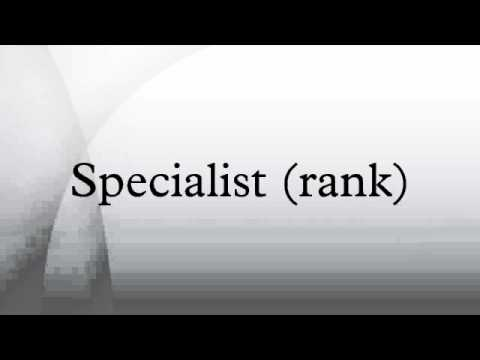 Specialist (rank)