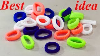 DIY Hair rubber bands craft idea | DIY art and craft | DIY HOME DECO
