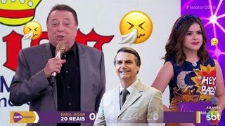 Raul Gil falando do Bolsonaro no Teleton