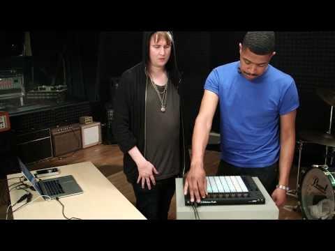Machinedrum and Lando in the studio