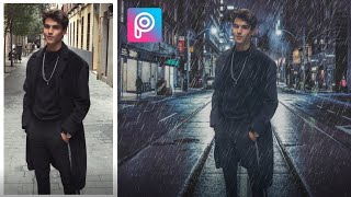 PicsArt Tutorial | Edit Rain Effect & Changing Background | Deny King