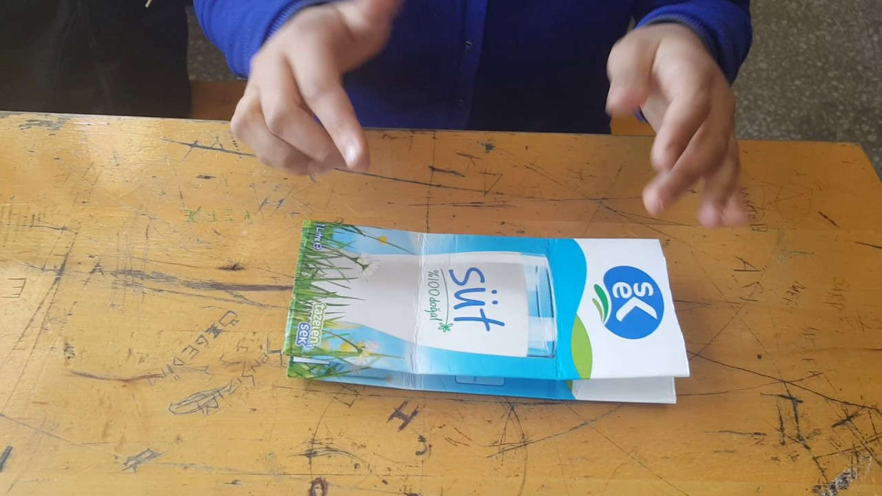Teknoloji Tasarım Basit Projeler Süt Kutusundan Cüzdan Yapımı 1