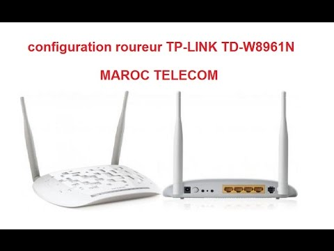 configuration routeur tp link td w8961n maroc telecom youtube. Black Bedroom Furniture Sets. Home Design Ideas
