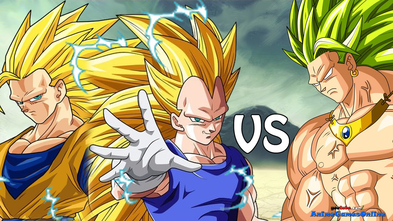 Super Saiyan 3 Broly Vs Goku And SSJ3 Vegeta