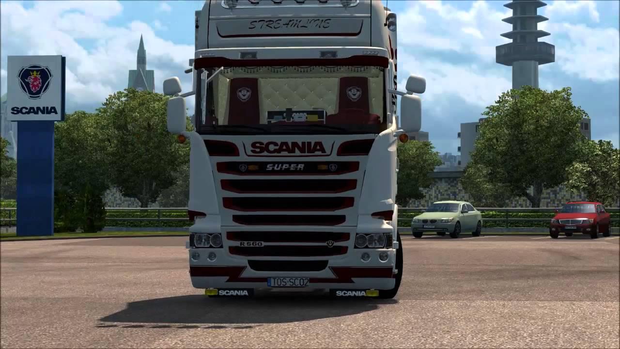 ETS2 v1.21] Scania R560 + Interior - YouTube Scania Trucks Interior