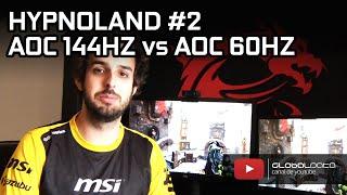 hypnoland 2 monitores aoc 144hz vs 60hz