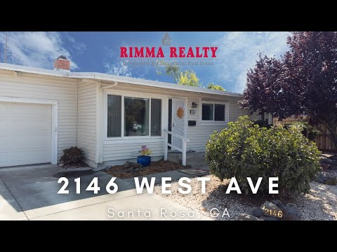 Just Listed: 2146 West Ave Santa Rosa