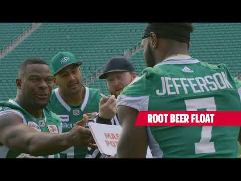 The Saskatchewan Roughriders Compete To Eat