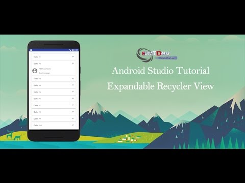 Android Studio Tutorial – Expandable Recycler View