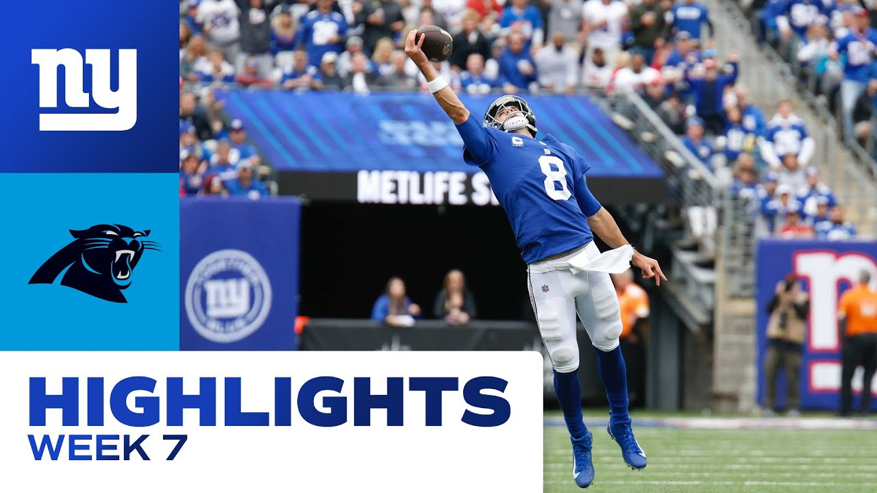 Download TOP HIGHLIGHTS: Giants vs. Panthers Week 7 | New York Giants