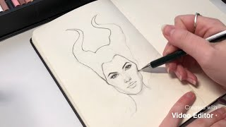 Maleficent 2 Drawing / timelapse