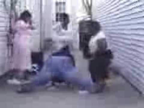 Fat black woman dancing