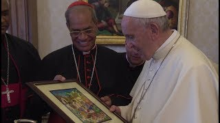 Pope to Bangladeshi bishops Im happy on my part of my visit to your country