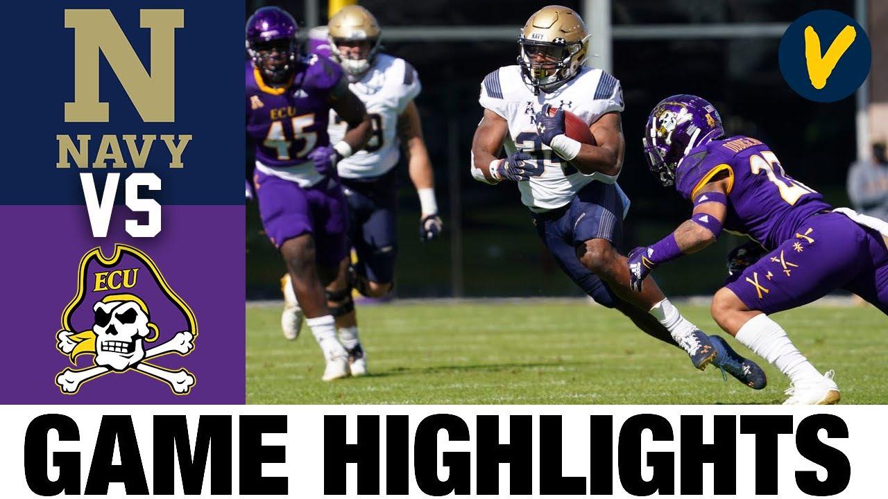 Navy vs East Carolina Highlights | Week 7 2020 College Football Highlights