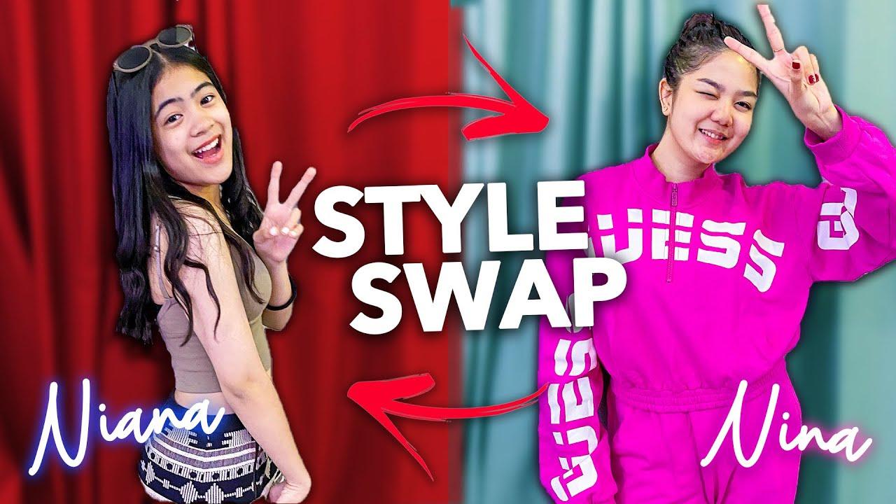 Download STYLE SWAP Challenge with NIANA! (She wore a dress!) | Nina Stephanie