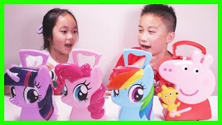 My Little Pony Carry Case Pinkie Pie Rainbow Dash & Twilight Sparkle MLP Case With Surprise Toys