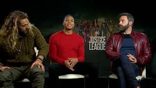 Justice League || Jason Momoa, Ray Fisher Ben Affleck Generic Junket Interview || #SocialNews.XYZ