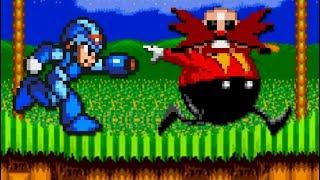 Mega Man X in Sonic 2 - All Bosses (No Damage)