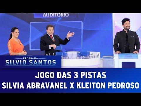 Jogo das 3 Pistas - Silvia Abravanel x Kleiton Pedroso | Programa Silvio Santos (12/11/17)