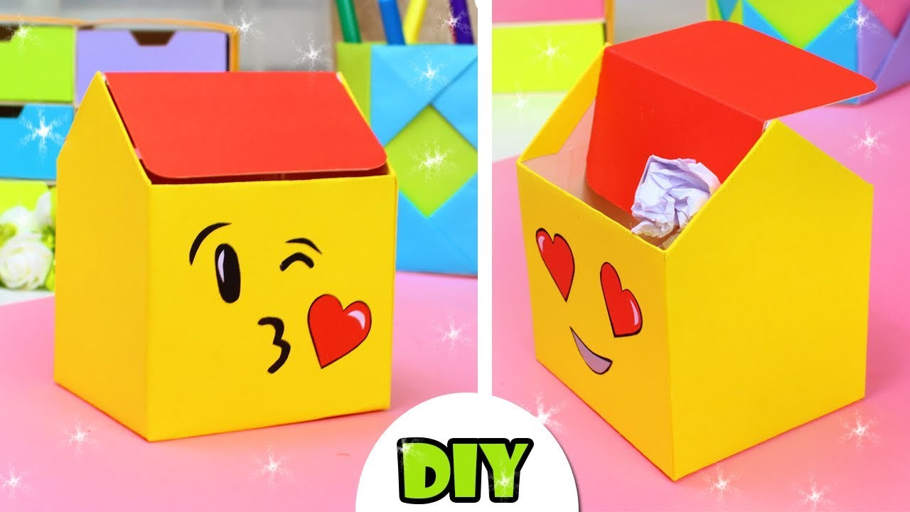 Diy Emoji Trash Desk Organization Idea From Paper Youtube 🔍find your emoji and how to get all emoji? diy emoji trash desk organization idea from paper