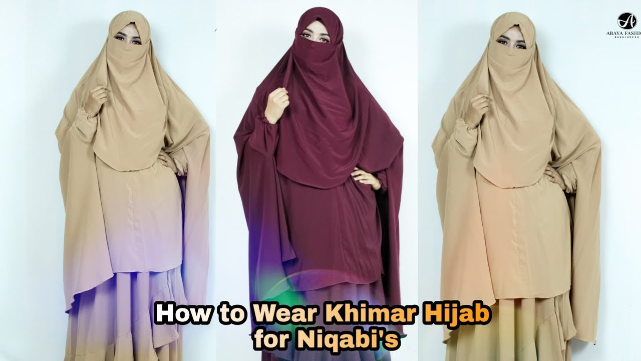 How To Wear Khimar Khimar Hijab Style For Niqabi S Rakhi S Beauty World Youtube
