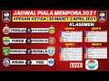 Jadwal Piala Menpora 2021 Hari ini Pekan 3 - Persib vs Persiraja - Persija vs Bhayangkara FC - Live