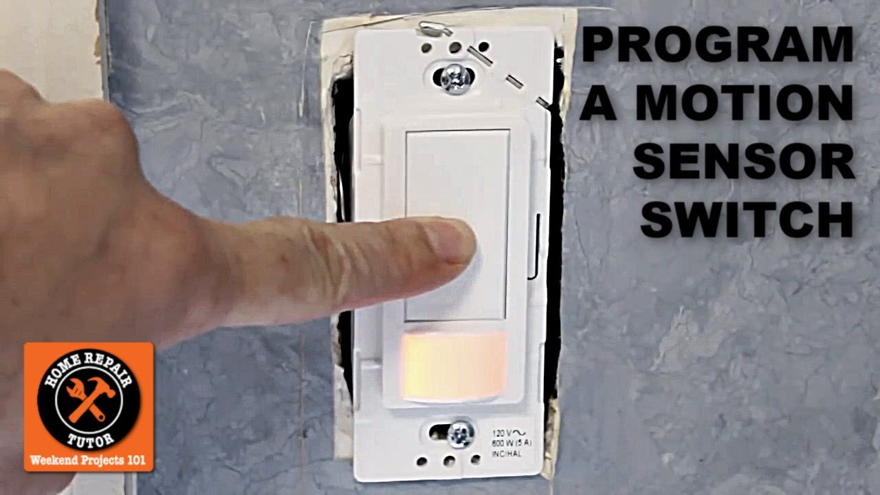 how to program the maestro motion sensor light switch by home repair tutor youtube [ 1280 x 720 Pixel ]