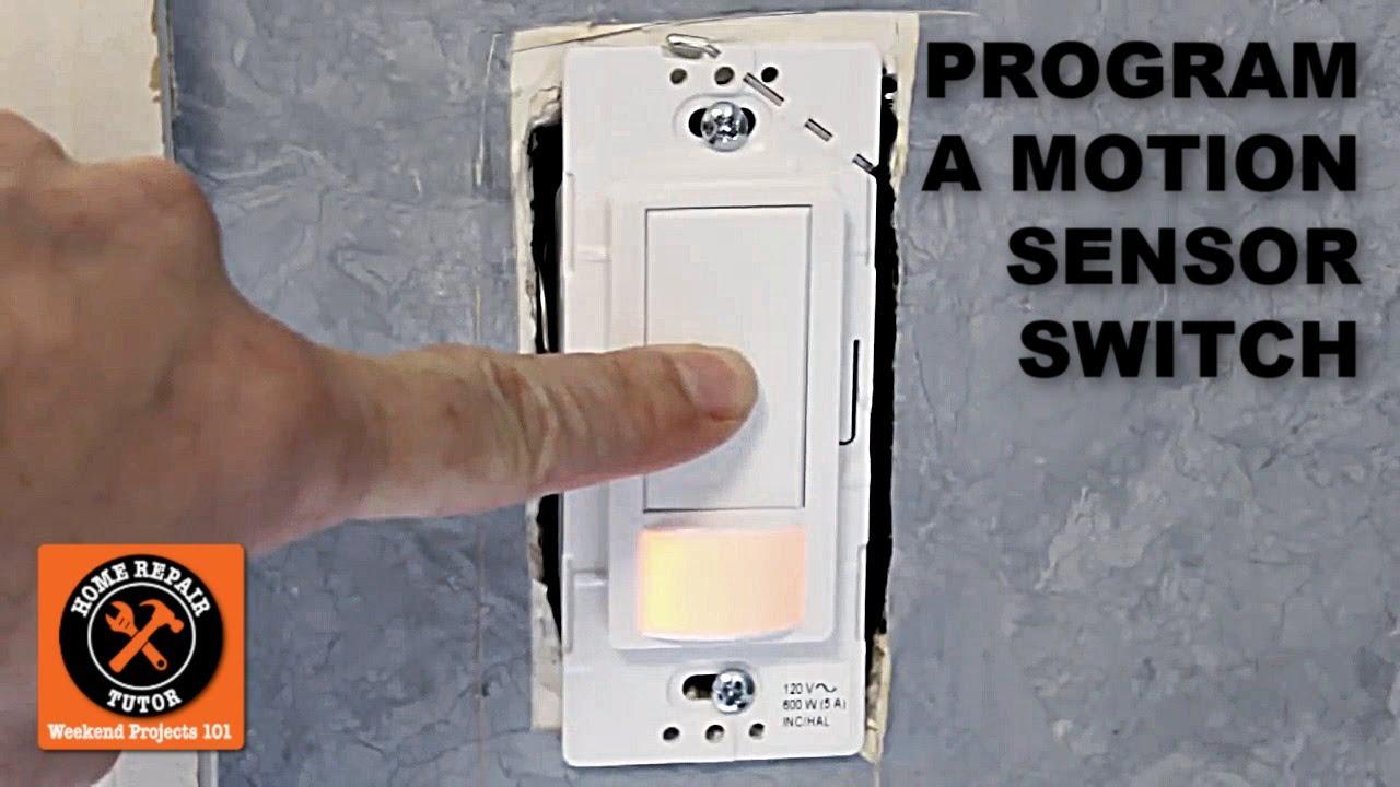 medium resolution of how to program the maestro motion sensor light switch by home repair tutor youtube