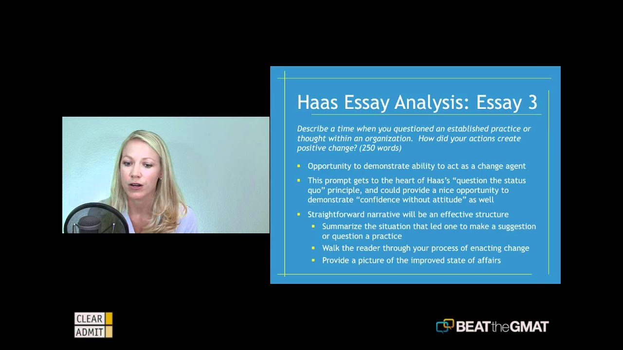 haas undergraduate application essay Essay a: (500 words maximum) describe your immediate post-undergraduate goals why is a business degree from berkeley-haas essential in helping you achieve these goals tip: we understand berkeley-haas has a world-renowned reputation, strong alumni network and majors have easier access to business courses.