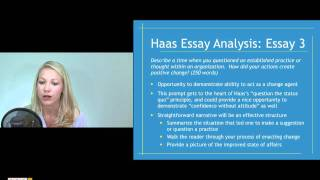 Haas School of Business MBA essay analysis and tips