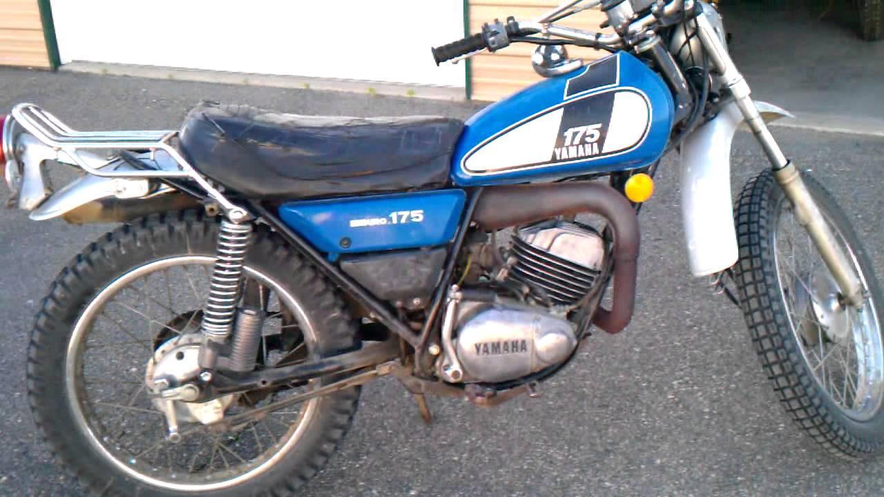 Yamaha Dt 125 Wiring Diagram 1975 Yamaha Dt 175 Enduro Ideling Youtube