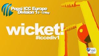 Gambar cover WICKET! Stevens c Bhatti b Chauhan 34(27) @cricketinjersey 90-5(13) v @francecricket #iccediv1