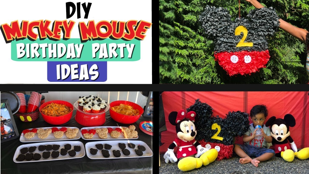 Mickey Mouse Birthday Party Ideas - YouTube