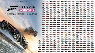 Forza Horizon 3 All Cars (Including All DLC) (525 Cars)
