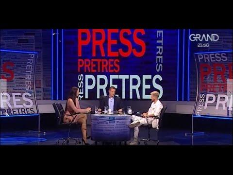 Katarina Grujic i Savo Perovic - Press Pretres - Cela emisija - (Tv Grand 17.11.2016.)