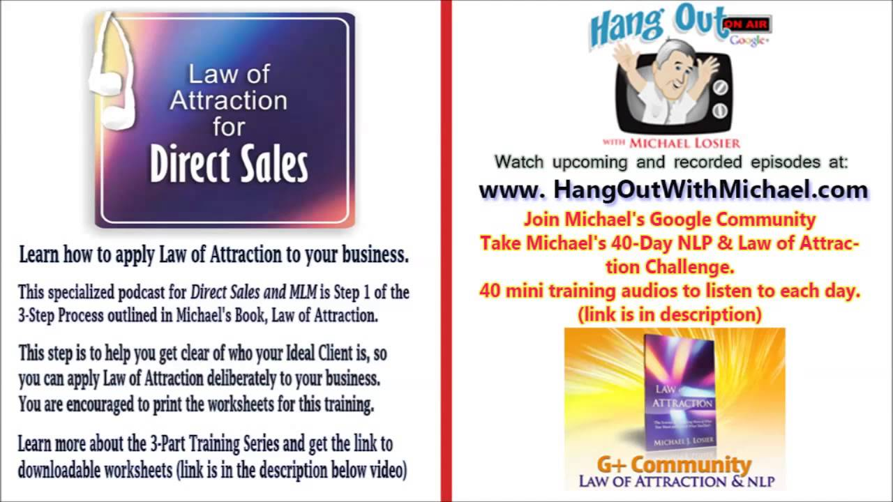 Copy Of Direct Sales How To Use Law Of Attraction Step 1 With