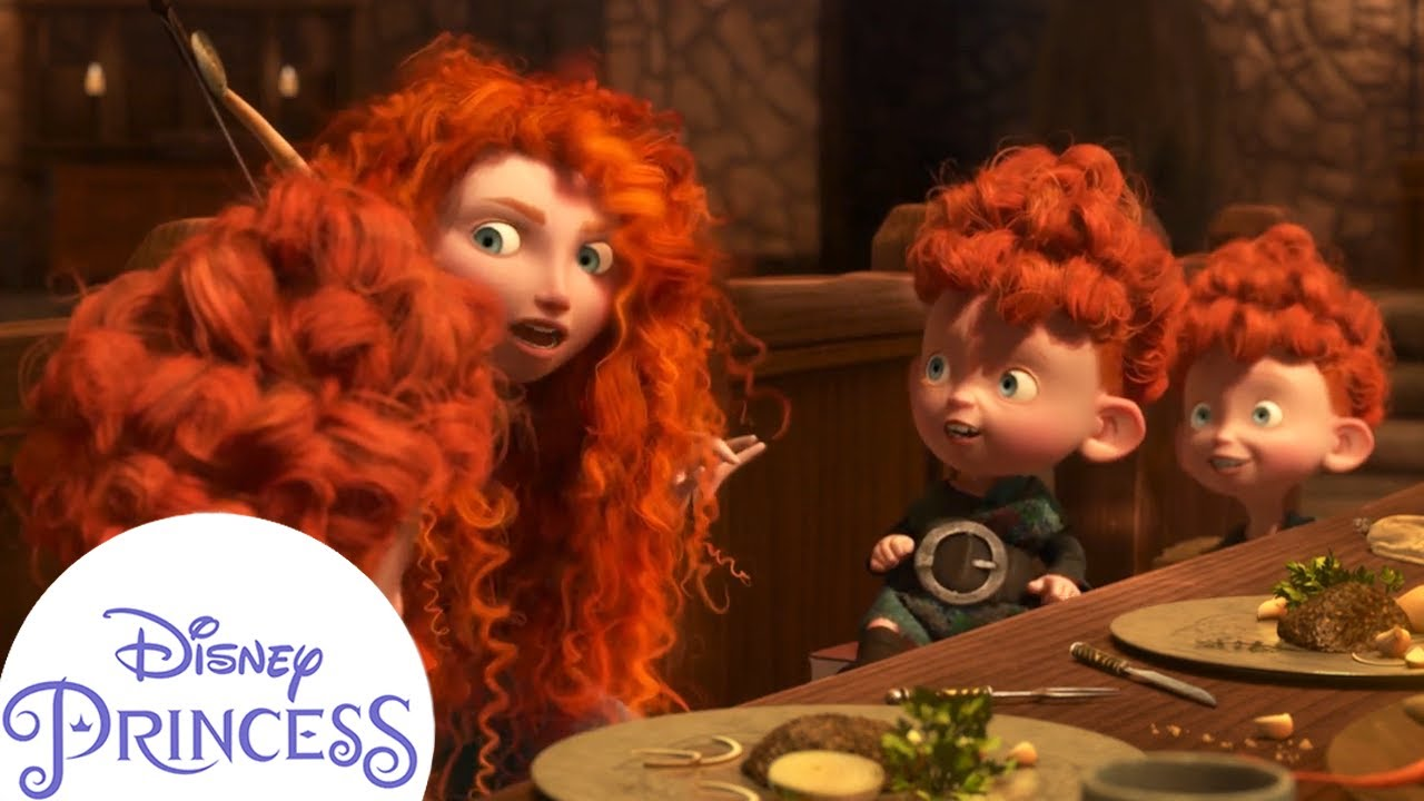 Merida and Her Siblings' Supper Shenanigans | Disney Princess