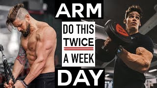 TWO DAY BICEP & TRICEP Workout | Top Mistakes FIXED! (Lex Fitness, ElliotBFit ARM DAY)
