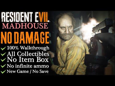【Resident Evil 7】No damage/MADHOUSE - 100% Walkthrough (New Game)